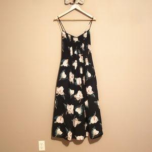 J Crew Magnolia Floral Pleated Tea Dress